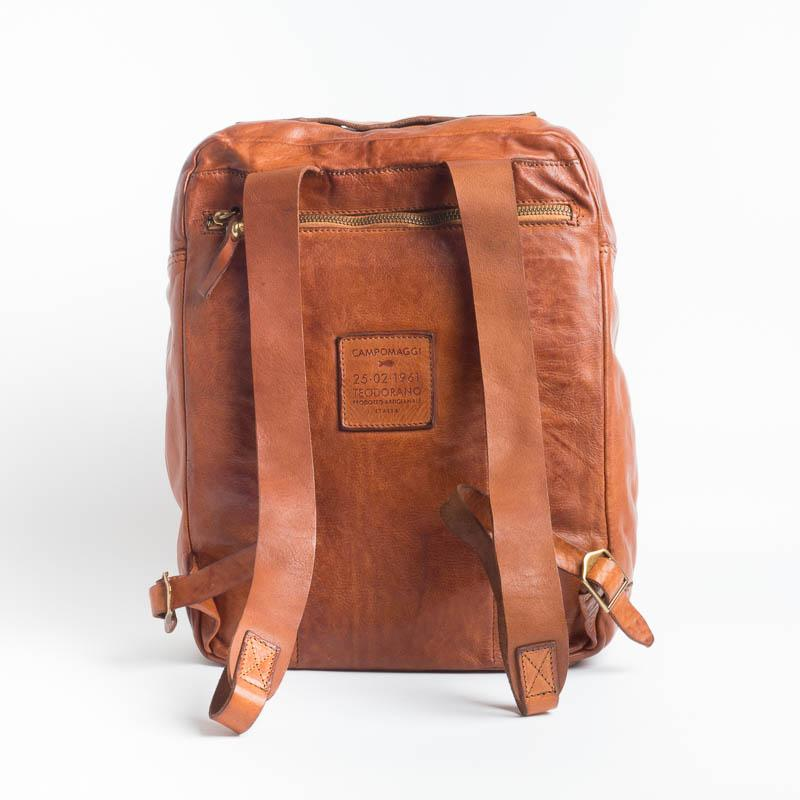 CAMPOMAGGI -C017840 - Backpack - Gray and Cognac Man Accessories CAMPOMAGGI - Man Collection