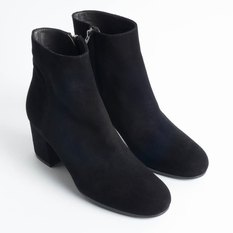 VIA ROMA 15 - 2309 - Ankle boots - Suede - Black Women's shoes Via Roma 15