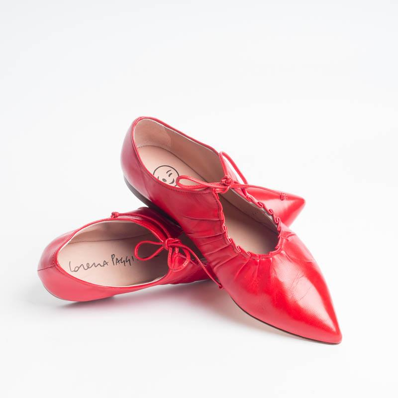 LORENA PAGGI - Ballerina 1202 - Red Women's Shoes LORENA PAGGI