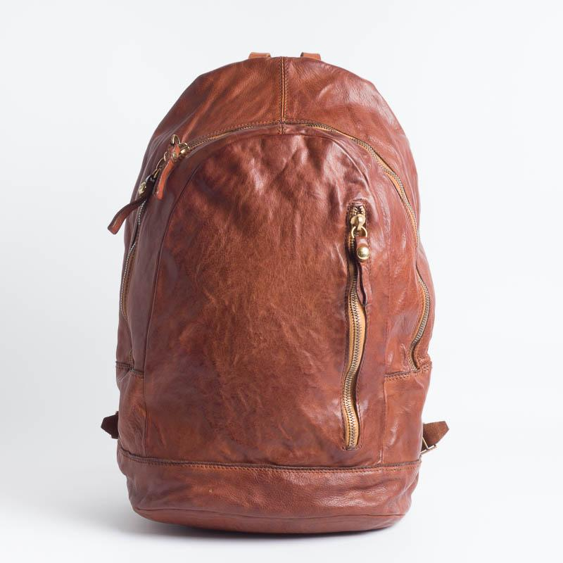 CAMPOMAGGI - Backpack - C021530 - Cognac or Dark brown Accessories for Men Campomaggi Cognac