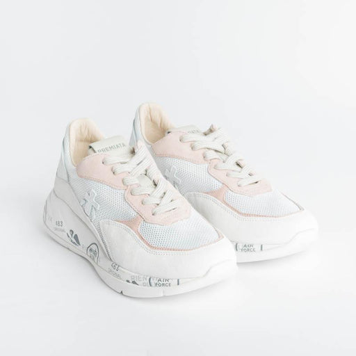 PREMIATA - Sneakers - SCARLETT 5230 - White / pink Premiata Women's Shoes - Women's Collection