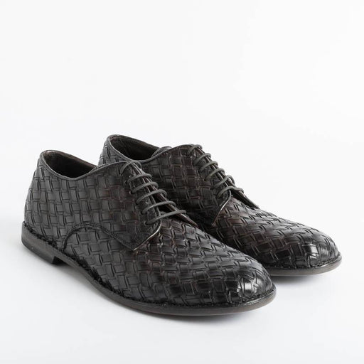 PANTANETTI - Derby - 14416G - Braided Brown Men's Shoes PANTANETTI - Man