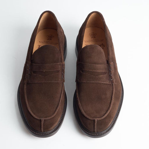 TRICKER'S - Continuativo - James - Mocassino Suede Repello - Cioccolato Scarpe Uomo Tricker's