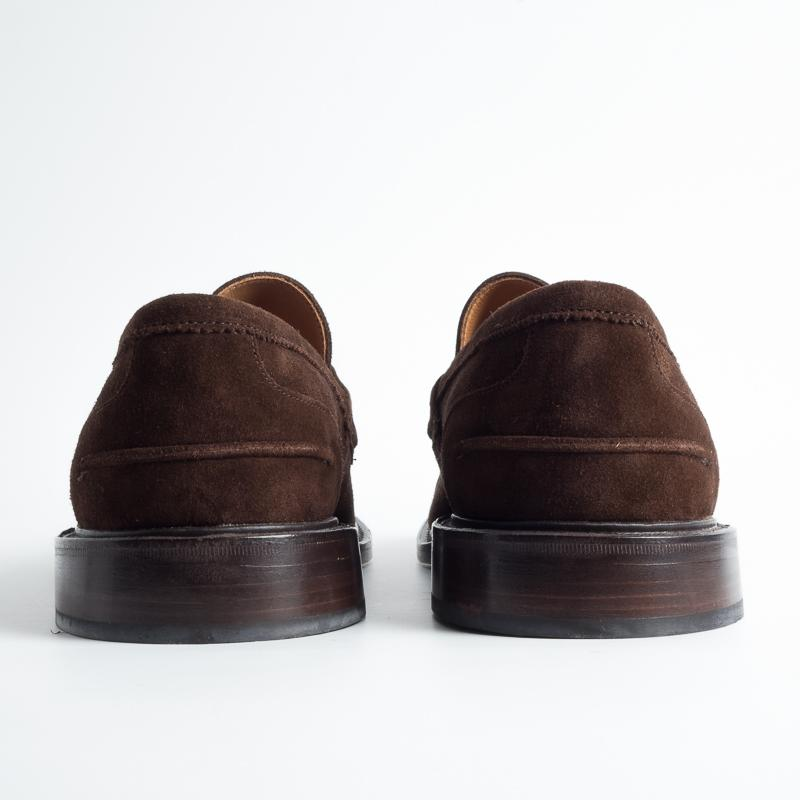 TRICKER'S - Continuous - James - Repello Suede Moccasin - Chocolate Tricker's Men's Shoes