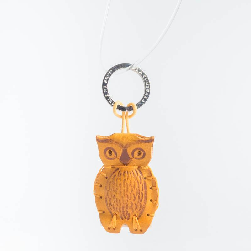 Cappelletto 1948 - Keychain - Owl Women's Accessories CappellettoShop yellow