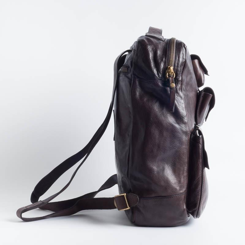 CAMPOMAGGI -C017840 - Backpack - Gray and Cognac Accessories for Men Campomaggi