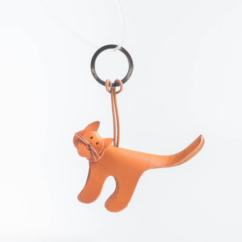 Cappelletto 1948 - Keychain - Cat Women's Accessories CappellettoShop leather