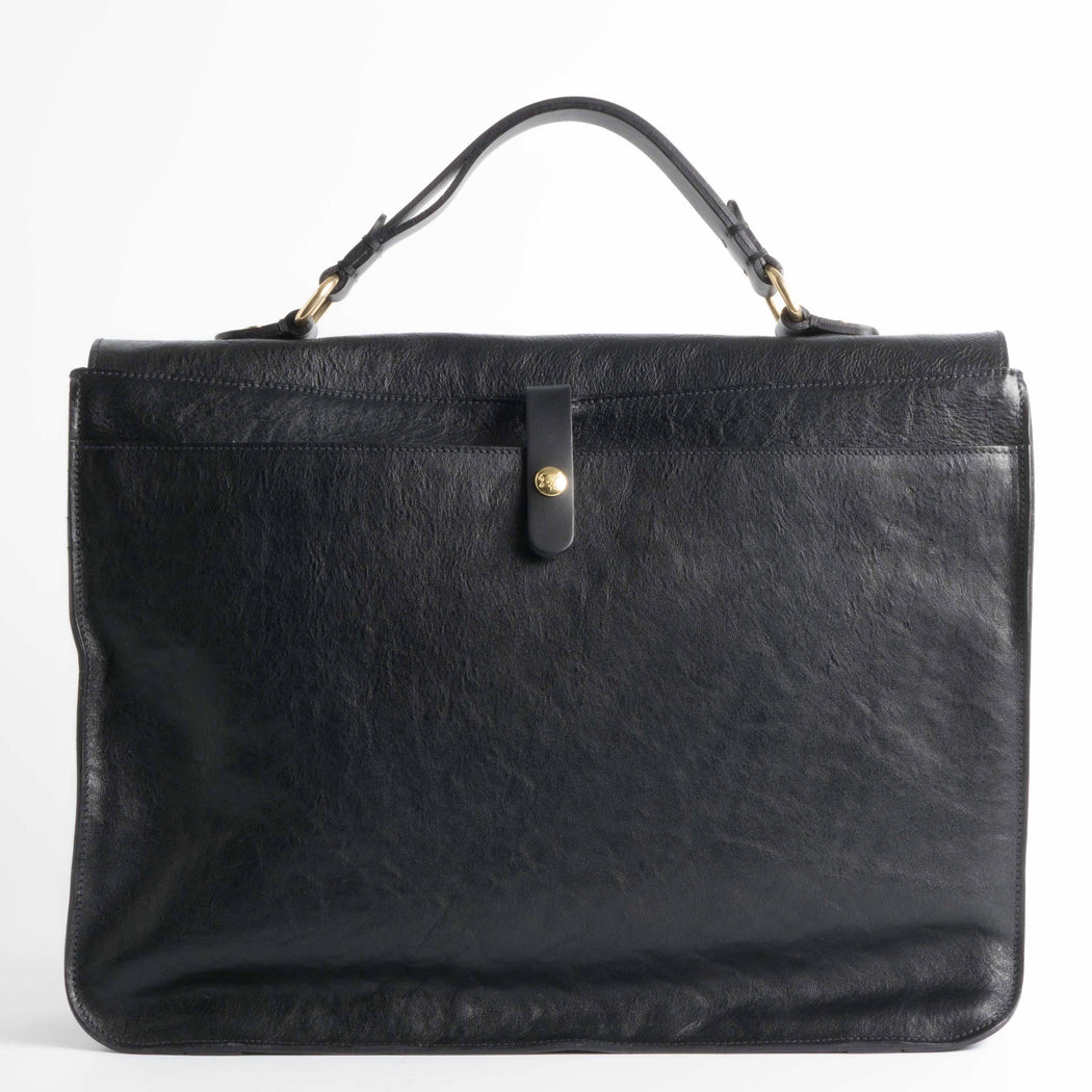 IL BISONTE - FW 2018/19 - D0301 P - Briefcase - Black Men's Accessories Il Bisonte