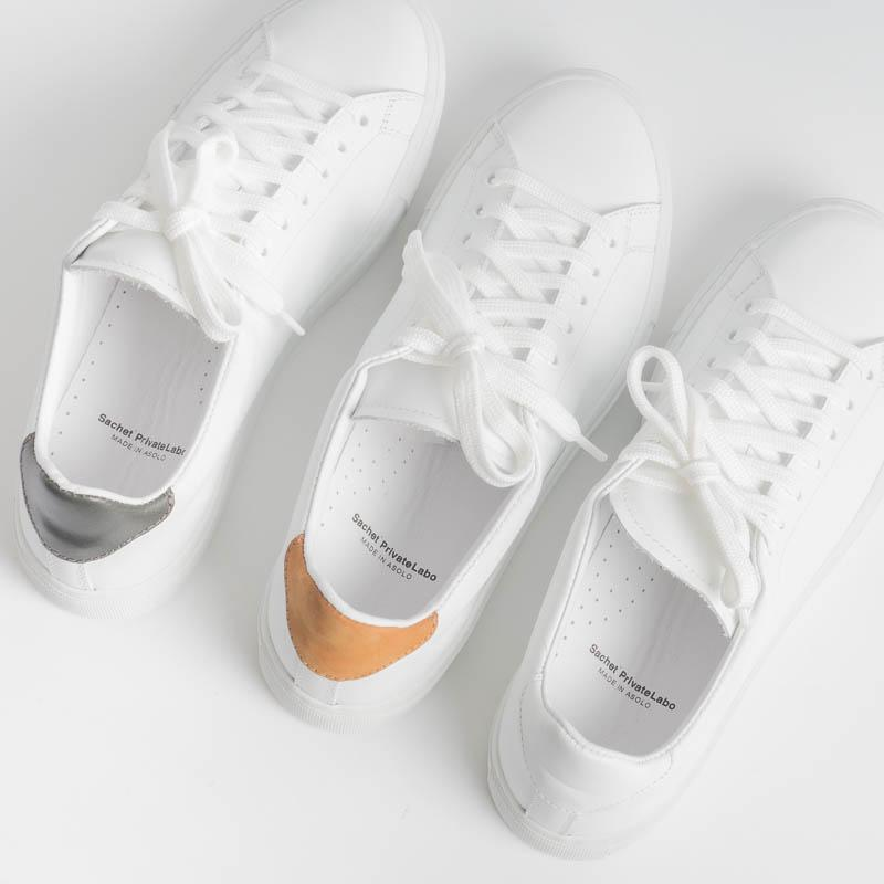 SACHET PRIVATE LABO - Sneakers - SN02 - White / leather Men's Shoes SACHET - Men's Collection Footwear