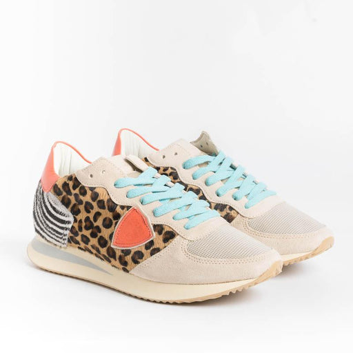 PHILIPPE MODEL - TZLD AN10 - Tropez - Pop Animal Orange Women's Shoes Philippe Model Paris