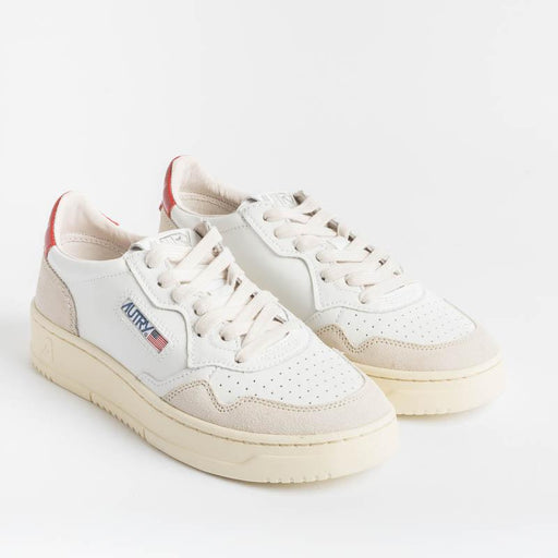 AUTRY LS43 - LOW WOM ALL LEAT / SUEDE - White / Red Women's Shoes AUTRY - Women's collection
