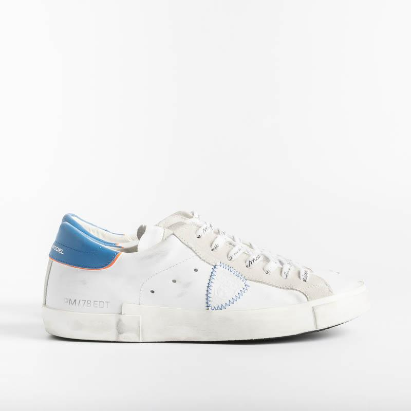 PHILIPPE MODEL - PRLU VB06 - ParisX - Broderie Blanc Blue Shoes Man Philippe Model Paris