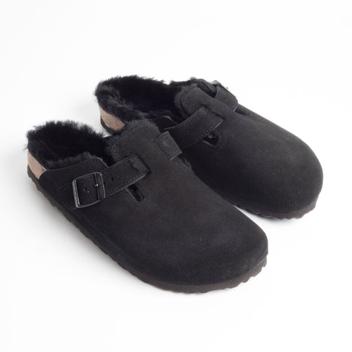 BIRKENSTOCK - AI 2018/19 - 259883 - Slipper Donna - BOSTON FUR  - Black
