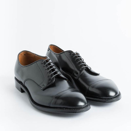 ALDEN - 5667 - Derby Modified (Ergonomic) - Cordovan Black Shoes Man Alden