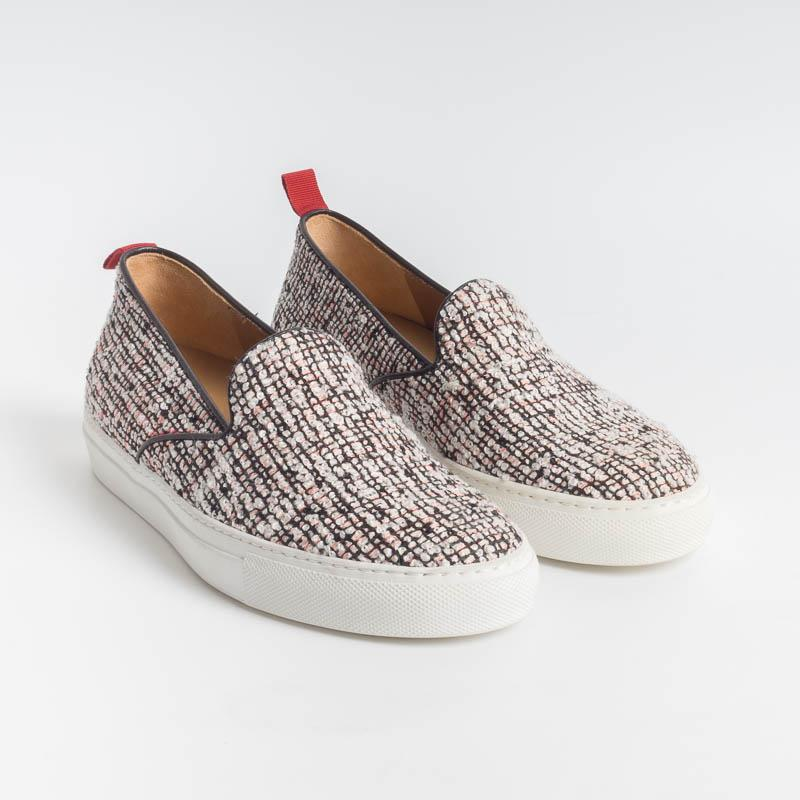 VIA ROMA 15 - Slip on - 1814 - Tweed Scarpe Donna Via Roma 15