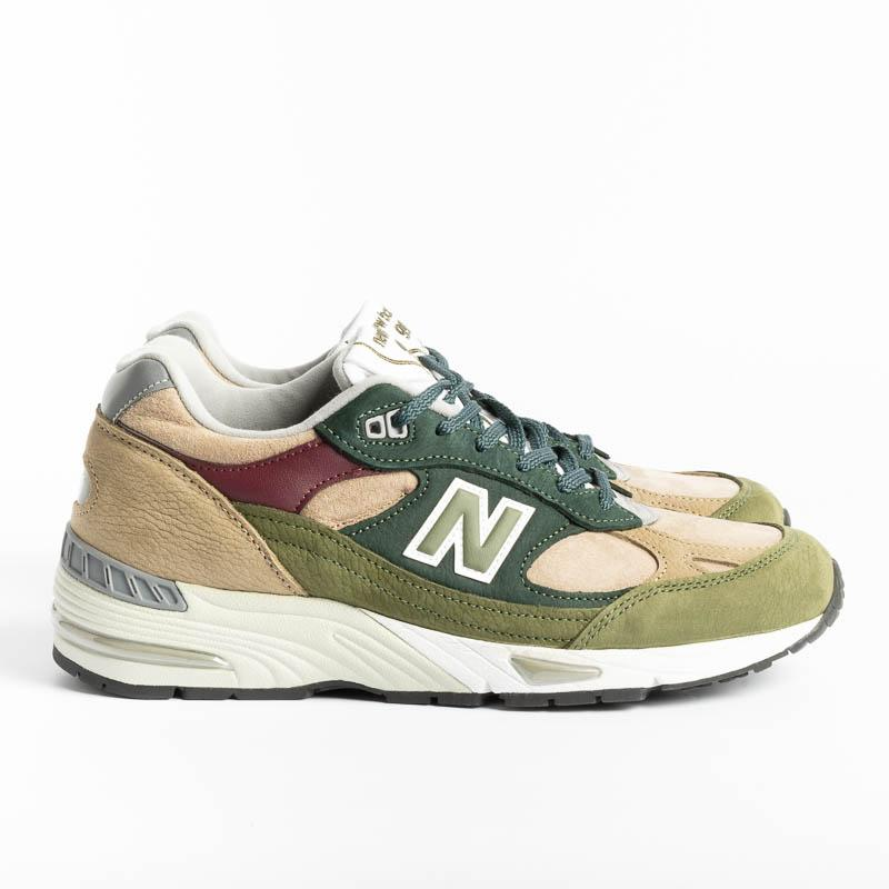 NEW BALANCE - 991 NTG Sneakers - Green Men's Shoes NEW BALANCE - Men's Collection