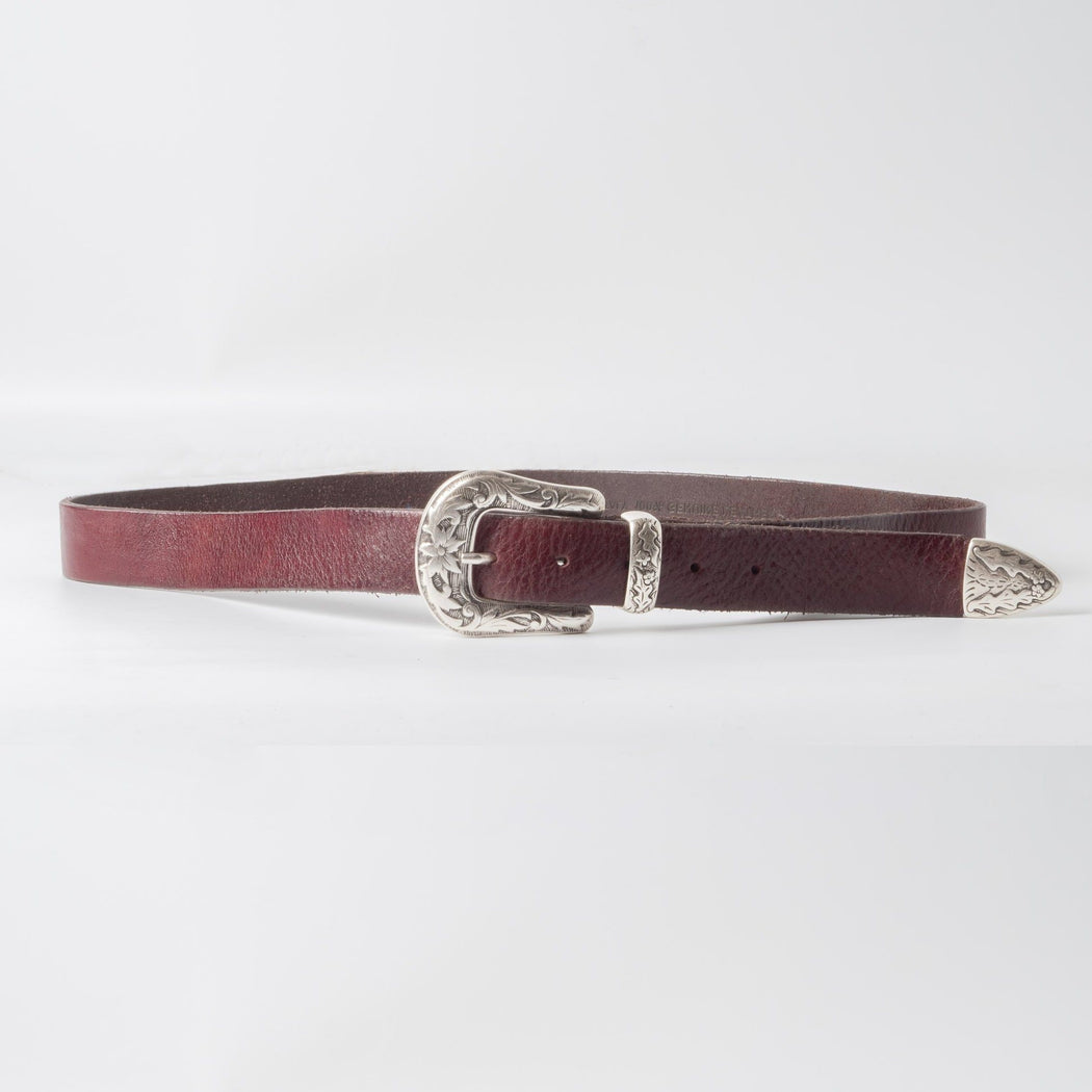 68 | 78 - SS 2019 - Belt with worked buckle - 100 cm. - Dark Brown Man Accessories 68 | 78