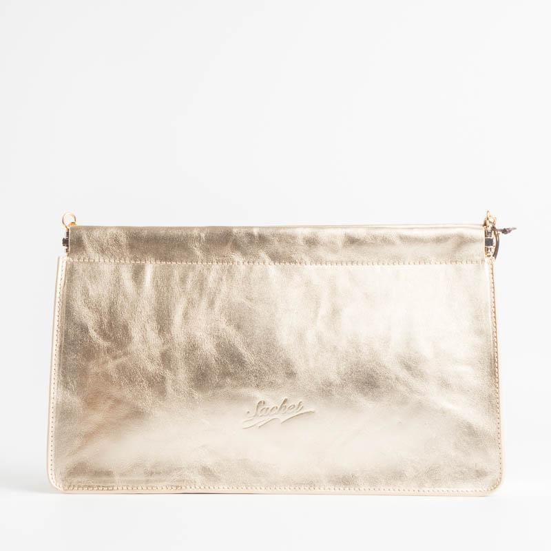 SACHET - mod 413 - Clutch bag with chain - various colors Bags SACHET LAMINATO PLATINO