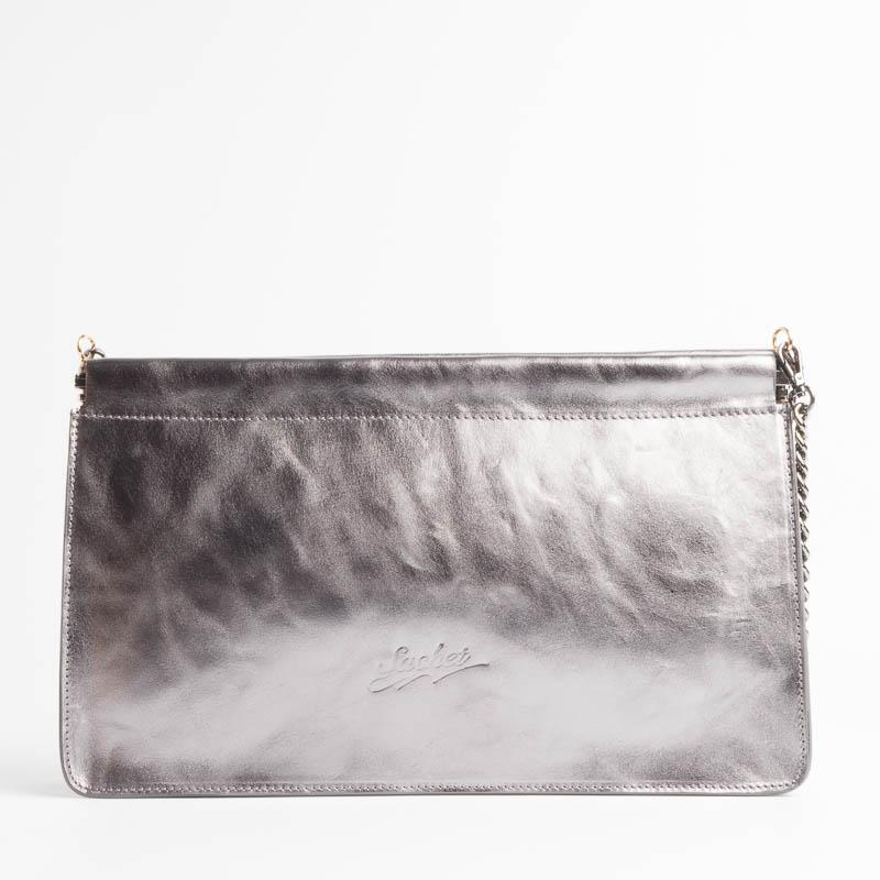 SACHET - mod 413 - Clutch bag with chain - various colors Bags SACHET LAMINATED STEEL
