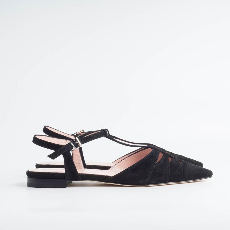 ANNA F. - Ballerina 1234 - Black suede Shoes Woman Anna F.