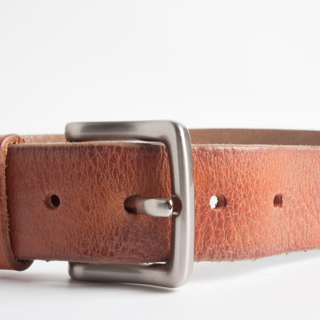68 | 78 - SS 2019 - Belt with metal buckle - 90 cm. - Leather Accessories Man 68 | 78