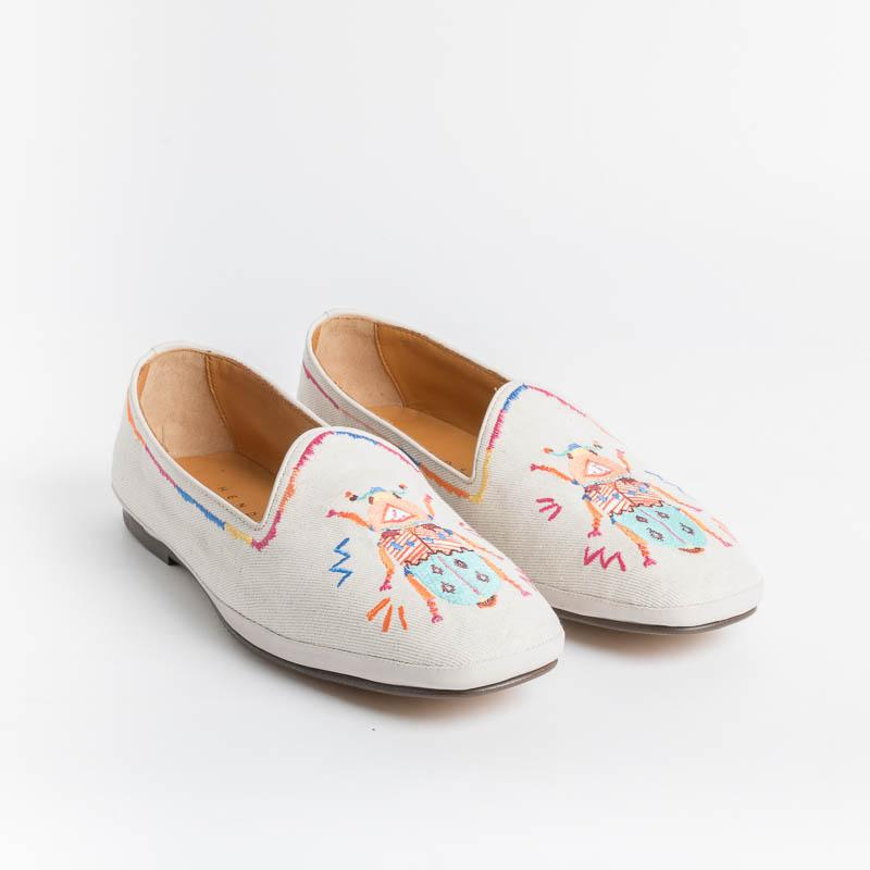 HENDERSON - Loafer - Nefertiti - Beige Fabric Shoes Woman HENDERSON - Woman Collection