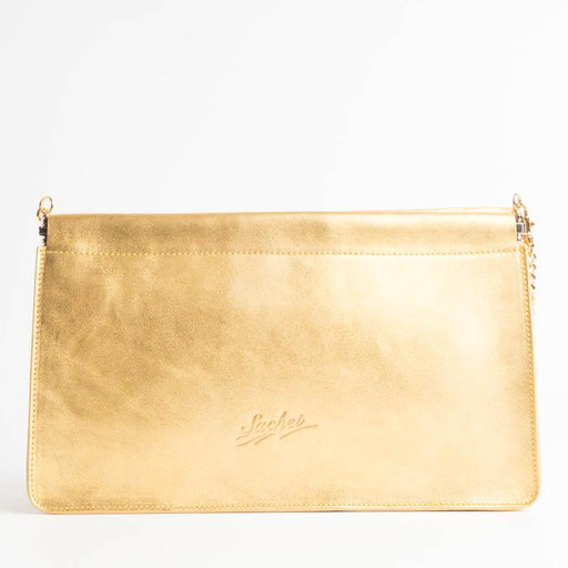 SACHET - mod 413 - Clutch bag with chain - various colors Bags SACHET LAMINATO ORO