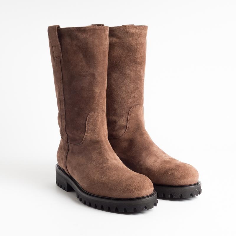 BY A. - Boots - 9598 - Velor Coffee Shoes Woman BY A