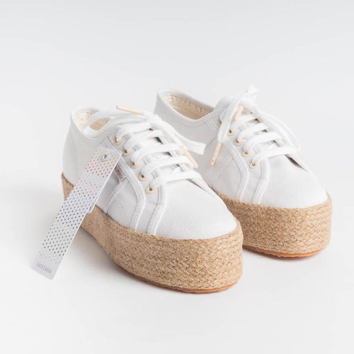 SUPERGA - Sneaker canvas - 2790COTDRILLROPEW - Bianco Scarpe Donna SUPERGA