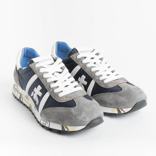 PREMIATA - Sneakers - LUCY 600 - Gray Blue Premiata Men's Shoes - Men's Collection