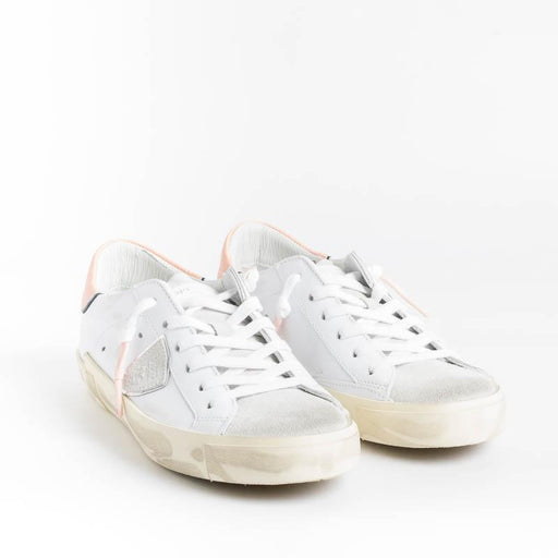 PHILIPPE MODEL - PRLD XC11 - ParisX - White Pink Women's Shoes Philippe Model Paris