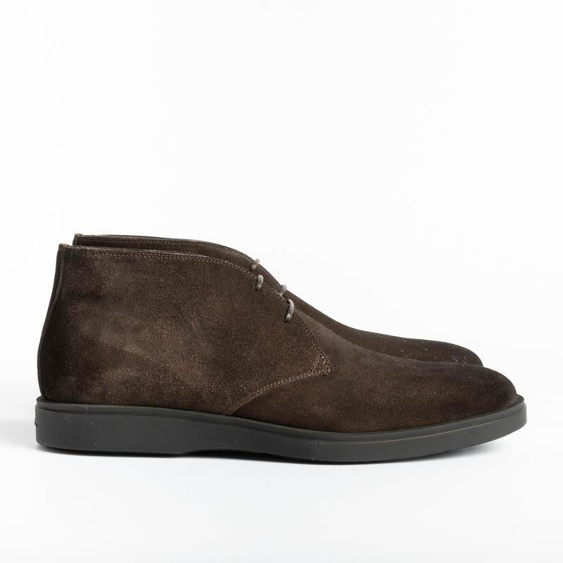 SANTONI - Ankle boots - Detroit - Dark Brown Santoni Men's Shoes - Men's Collection