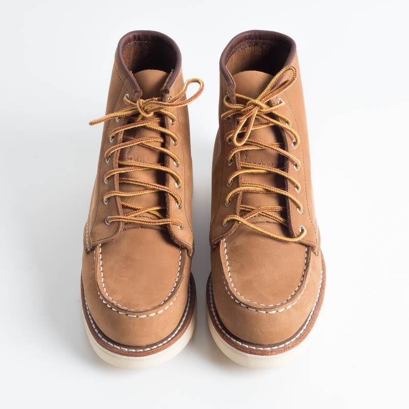 RED WING - 3372 Moc Toe Honey Nabuck Women's Shoes Red Wing Shoes