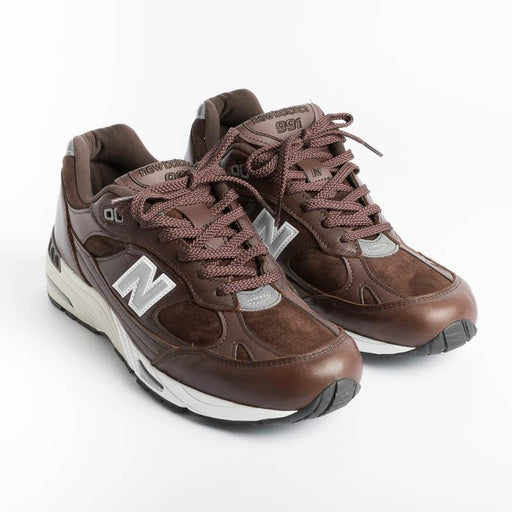 NEW BALANCE - Sneakers 991 LCS - Dark Brown Men's Shoes NEW BALANCE - Men's Collection