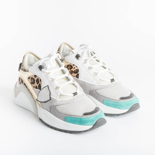 PHILIPPE MODEL - EZLD BP02 - Eze - Leopard Fuxia Women's Shoes Philippe Model Paris