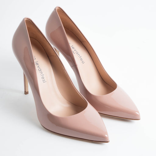 SERGIO LEVANTESI - FW 2018/19 - Miss - Patent leather - Nude Shoes Woman SERGIO LEVANTESI