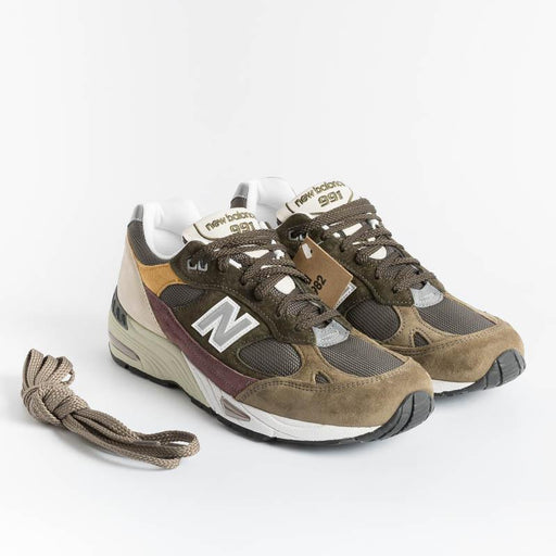 NEW BALANCE - Sneakers 991 GYB - Green brown bordeaux Men's Shoes NEW BALANCE - Men's Collection