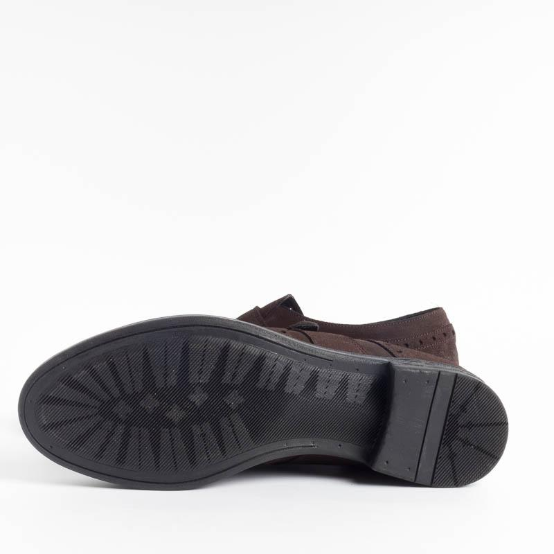 SEBOY'S - Buckle - 3838 - Hydrovelour - Dark Brown Shoes Man SEBOY'S