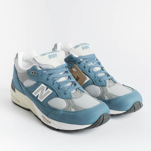 NEW BALANCE - Sneakers 991 BSG - Blue and gray Men's Shoes NEW BALANCE - Men's Collection