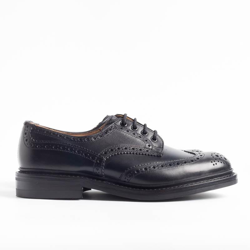 TRICKER'S - Derby - Bourton - Black Calf Tricker's Men's Shoes
