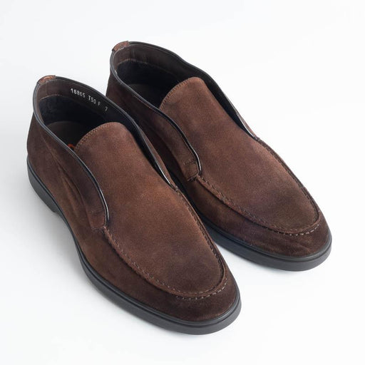 SANTONI- MGYA16865 Brown suede Santoni Men's Shoes - Men's Collection