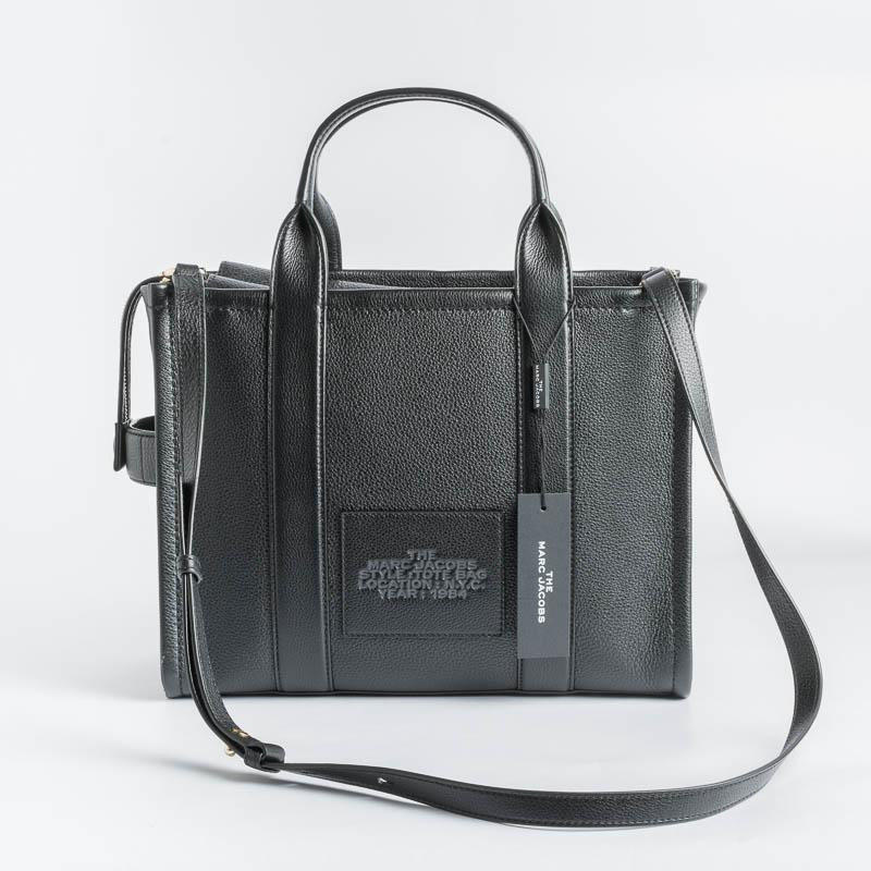 MARC JACOBS - HOO4LOIPF21 - The Leather Small Tote Bag - Black Bags Marc Jacobs