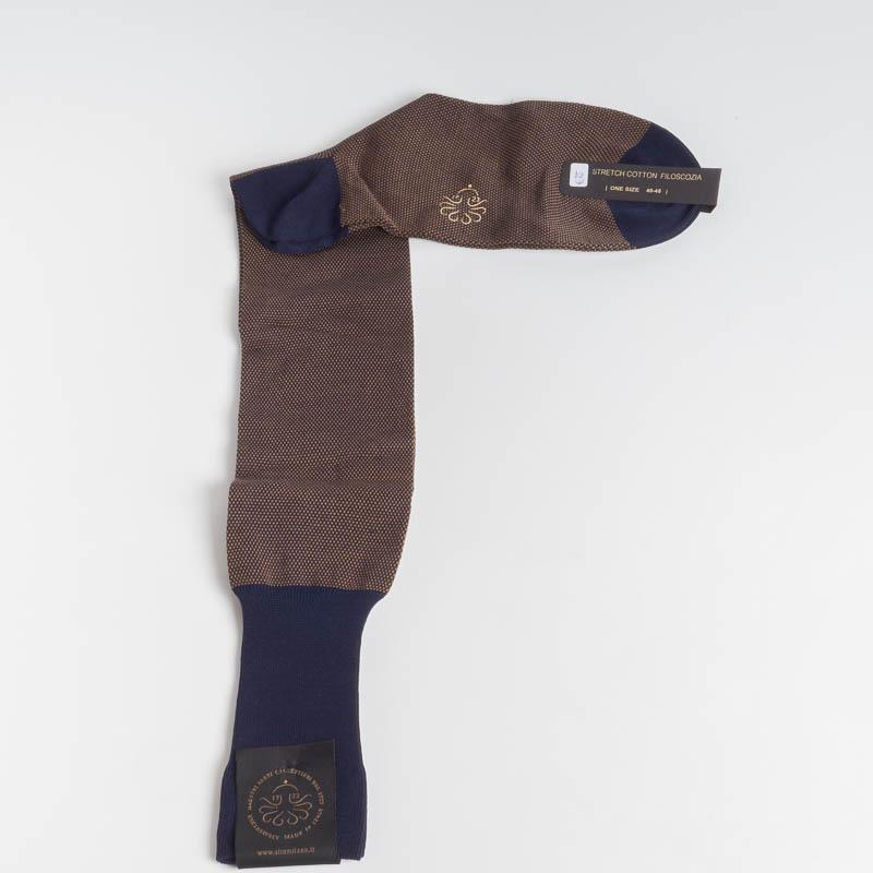 ALTO MILANO - 218 - Men's sock - Various colors Men's Accessories ALTO MILANO - Men's Collection BROWN 15