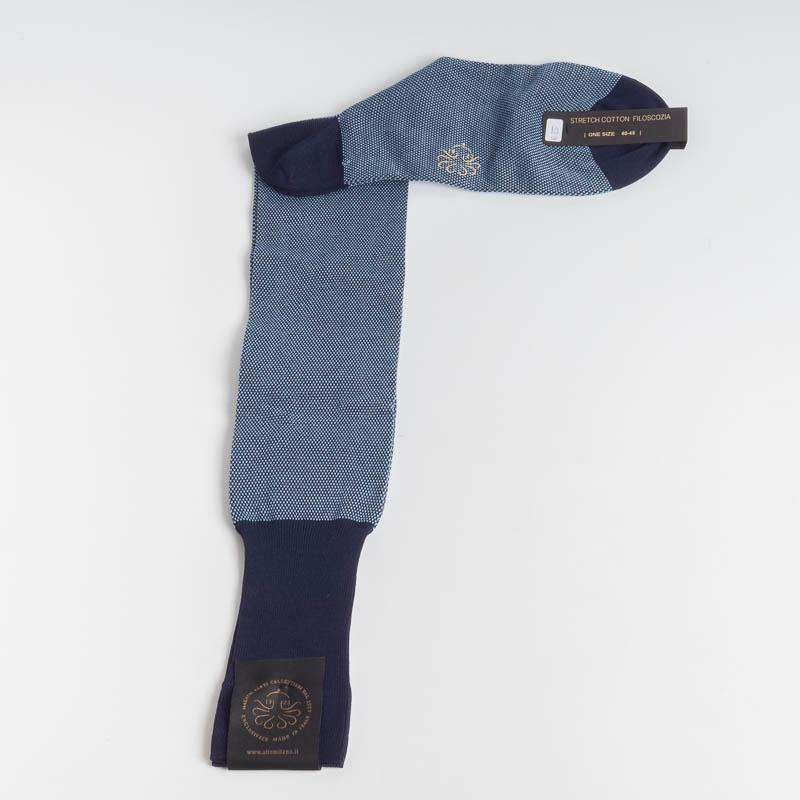 ALTO MILANO - 218 - Men's sock - Various colors Men's Accessories ALTO MILANO - Men's Collection AZZURRO 158