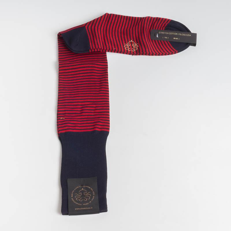 ALTO MILANO - 1553 - Men's sock - Various colors Men's Accessories ALTO MILANO - Men's Collection 39-42 BLUE-RED 104