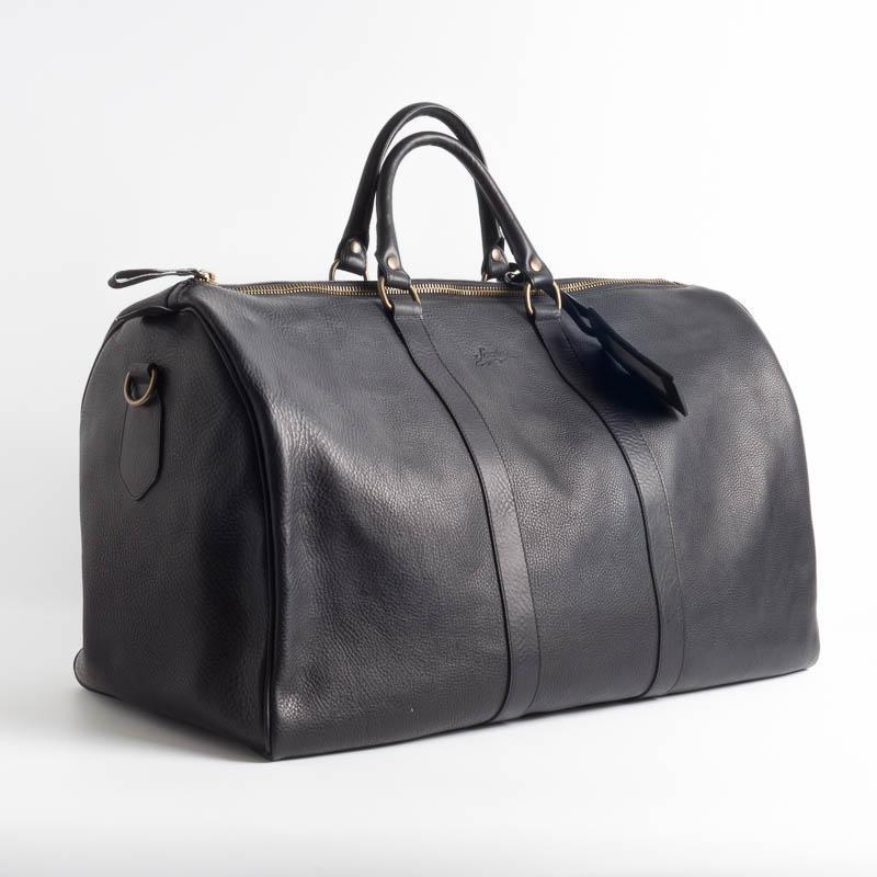 SACHET - Travel Bag - Leather - Various Colors Bags SACHET BLACK HAMMERED LEATHER