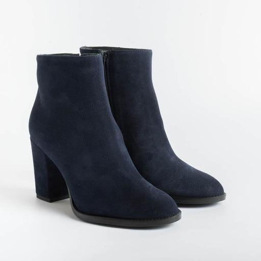 ANNA F - Ankle Boots - 9685 - Blue Suede Women's Shoes Anna F.