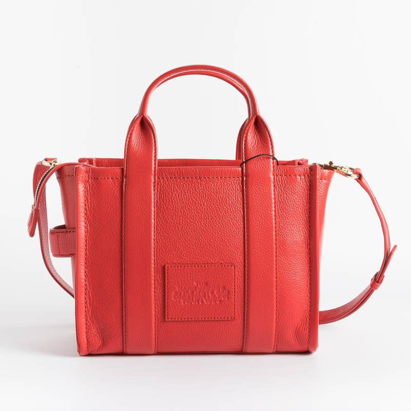 MARC JACOBS - H009L01SP21- The Leather Mini Tote Bag - True Red Bags Marc Jacobs