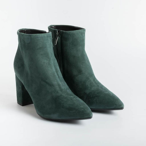 ANNA F - Ankle boots - 9438 - Green Suede Women's Shoes Anna F.