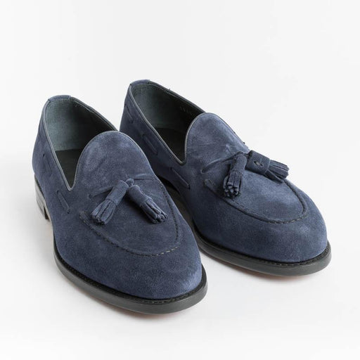BERWICK 1707 - 5139 - Tassel Loafer - Florence Navy Blue Men's Shoes Berwick 1707